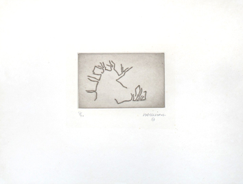 Original signed etching de  : Articulation II