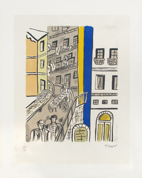 Lithograph after de  : The street