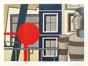 Lithograph after de Léger Fernand : The man with jumper
