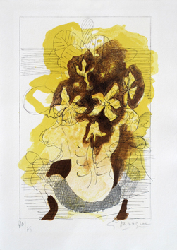 Signed lithograph de  : Jonquils