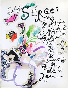 Oeuvre unique signée de  : Salut Serge