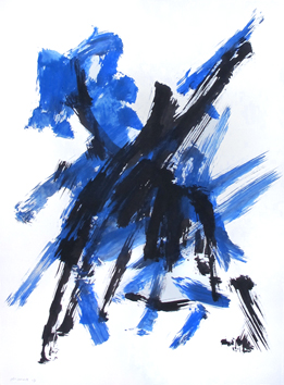 Signierte Original-Aquarell de  : Komposition LXXXIII (83)