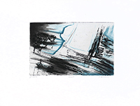 Original signed etching de Haass Terry : Glaciers
