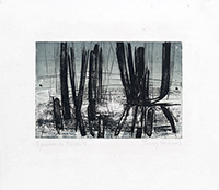 Original signed etching de  : Reflets 2