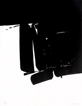 Lithographie originale signée de  : Sans titre XXXXVI