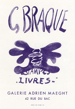 Cartel original de Braque Georges : Estampes livres