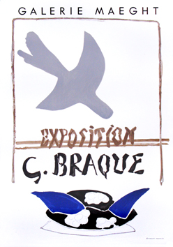 Cartel original de Braque Georges : Galerie Maeght