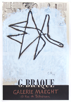 Cartel original de Braque Georges : Galerie Maeght II