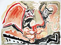 Litografia originale firmata de  : Hommage à Cabral