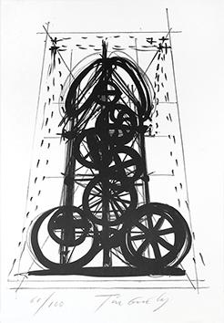 Lithographie originale signée de  : Vittoria