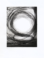 Signed etching engraving de  : Offrande à l'Invisible