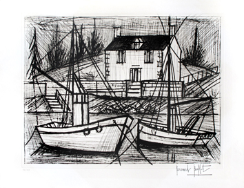Original signed etching de  : Port Saint-Jean