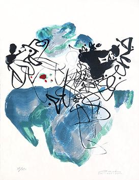 Lithographie originale signée de  : La paix universelle