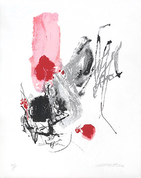 Original signed lithograph de Chu Teh-Chun : Composition XXVII
