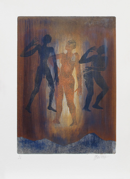 Original signed monotype de  : Three characters