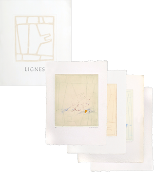 Portfolio with etchings de Coignard James : Lignes