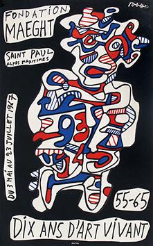 Affiche originale de  : Dix ans d'art vivant