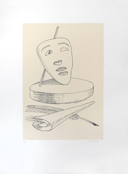 Original signed lithograph de  : Les six masques voyants, plate IV