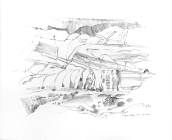 Original signed drawing de  : Surprise Valley IV