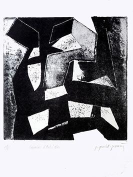 Lithographie originale signée de  : L'escalier d'André Bloc