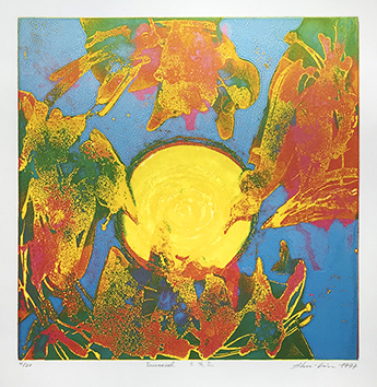 Original signed etching de  : Tournesol