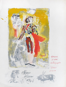 Heightened lithograph de  : Torero for