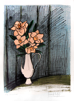 Original signed lithograph de  : Camellias, second state