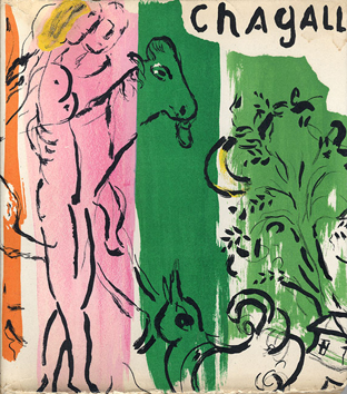 Book with lithograph de  : Chagall by Lassaigne