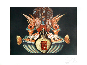 Original signed lithograph de  : Monarchical flesh tones