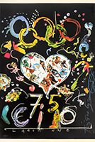 Screenprint poster de  : 75 CIO, Lausanne II