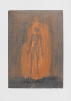 Original signed monotype de  : Three characters III