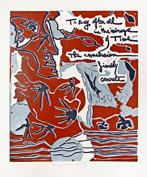 Linogravure originale signée de Scanreigh Jean-Marc : To Say After All