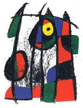 Original lithograph de  : From Miro Lithographe II