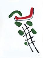 Signierte Originallithographie de  : Plakat vor dem Brief n°66 II