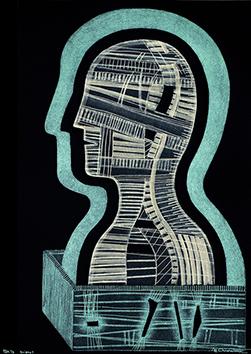 Gravure originale signée de  : Enigma 1