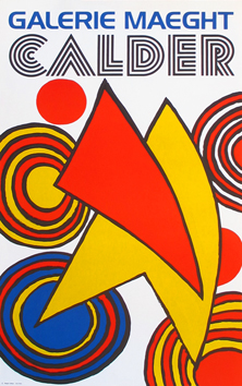 Lithograph poster de  : Triangles and spirals
