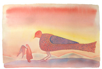 Original signed watercolour de  : The old dream of man