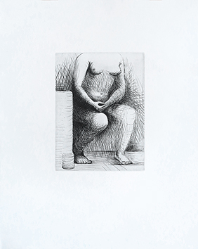 Gravure originale de  : Seated Figure