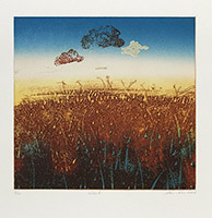 Original signed engraving de  : Cloud