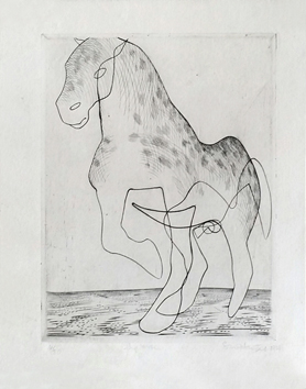 Hayter S.-William : Gravure originale signée : Big horse