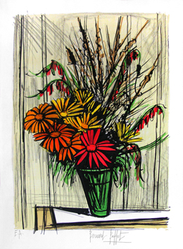 Original signed lithograph de  : Marguerites