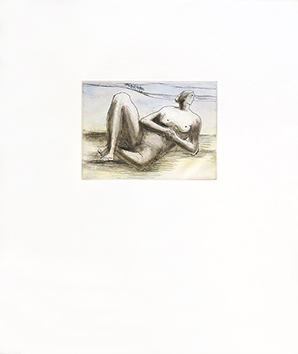 Radierung und Aquatinta de  : Reclining figure 8