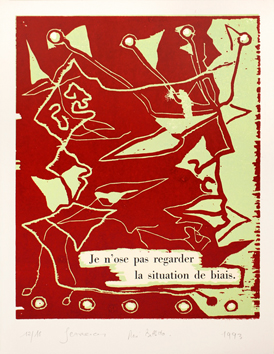 Original signed woodcut de  : Je n'ose