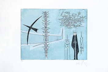 Original signed etching de  : Without title VIII
