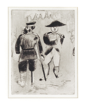 Original etching de  : Kopeikine and Napoléon