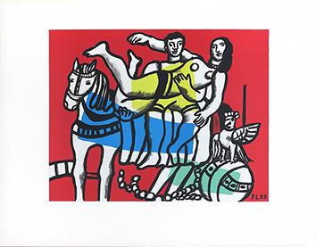 Lithographie de  : La Parade