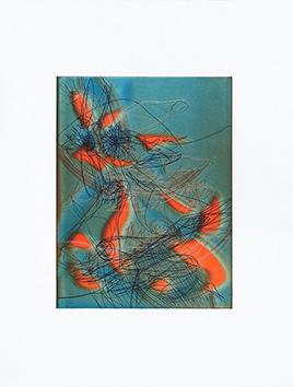 Gravure originale signée de  : Flor al viento
