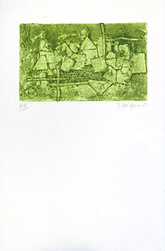 Original signed etching de  : Village