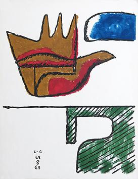 Lithographie de  : La main ouverte