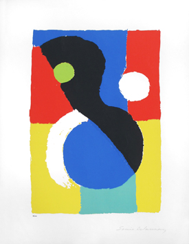 Signed screenprint de  : Composition VI